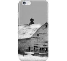Birch Avenue Barn BW iPhone Case/Skin
