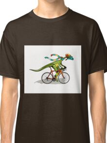 Illustration of an Anabisetia dinosaur riding a bicycle. Classic T-Shirt