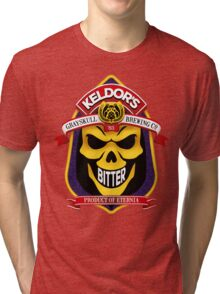 Keldor's Bitter - Grayskull Brewing Company - Skeletor Tri-blend T-Shirt