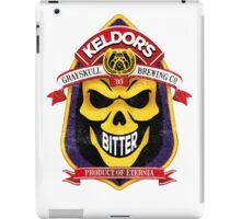 Keldor's Bitter Ale - Grayskull Brewing Company - Skeletor - Worn out version iPad Case/Skin