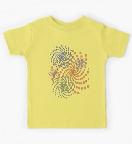 Catherine Wheel or Pinwheel Pattern Kids Tee