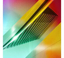Colorful Modern Building Urban City Abstract Geometric Gradation Photographic Print