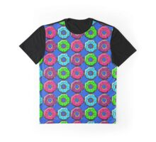 Donuts Make Me Go Nuts!! All Over Donut Print! Graphic T-Shirt