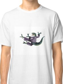 Illustration of a Raptor performing karate. Classic T-Shirt