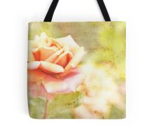 Song of Spring Lovely Pale Orange Rose Music Tote Bag