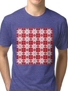 Snowflake pattern Tri-blend T-Shirt