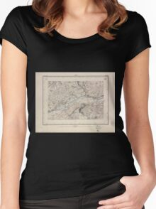 Civil War Maps 1595 Sierre Women's Fitted Scoop T-Shirt