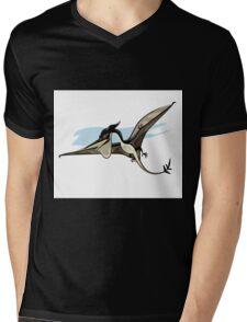 Illustration of a Pteranodon dinosaur. Mens V-Neck T-Shirt