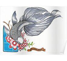 Black Goldfish Poster