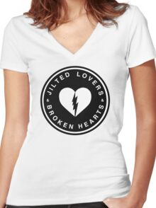 JILTED LOVERS & BROKEN HEARTS Women's Fitted V-Neck T-Shirt