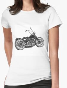 Knucklehead bobber, ink drawing  Womens Fitted T-Shirt