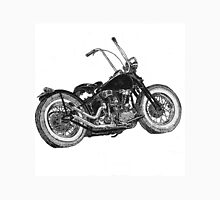 Knucklehead bobber, ink drawing  Men's Baseball ¾ T-Shirt