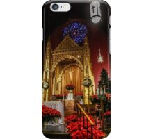 Christmas at the Church of St. Mary/St. Paul - the Altar iPhone Case/Skin