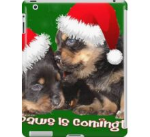 Santa Paws Is Coming To Town Christmas Greeting iPad Case/Skin