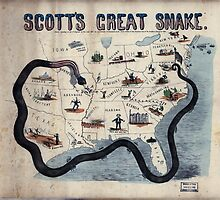 Civil War Maps 1559 Scott's great snake Entered according to Act of Congress in the year 1861 by wetdryvac