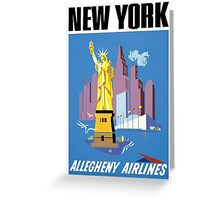 New York Vintage Travel Poster Greeting Card