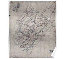 Civil War Maps 1544 Rockbridge Co Va Poster