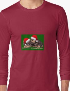 Santa Paws Is Coming To Town Christmas Greeting Long Sleeve T-Shirt