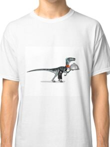 Illustration of a raptor food waiter. Classic T-Shirt
