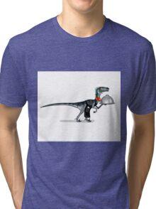 Illustration of a raptor food waiter. Tri-blend T-Shirt