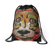 Puppy Eyes Drawstring Bag