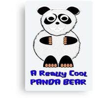 A Really Cool Panda Bear T-shirt, leggings, etc. design Canvas Print
