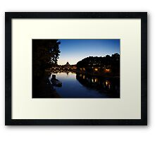 San Peter Dome and Tiber reflex on Sunset in Rome Framed Print