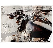 Harley Davidson 2014 Softail Deluxe Poster