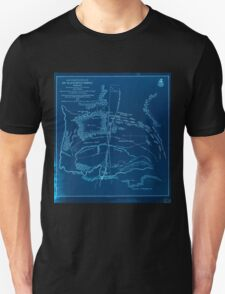 Civil War Maps 0667 Map of battlefield of Big Black River Bridge Mississippi showing the positions of the US troops May 17th 1863 Inverted Unisex T-Shirt