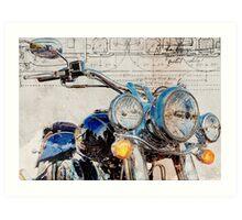 Harley Davidson FLSTN Softail Deluxe Art Print