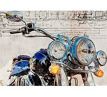 Harley Davidson FLSTN Softail Deluxe Photographic Print
