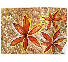 Wishing you a Merry Christmas with Poinsettias Poster