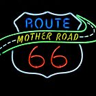 Route 66 Mother Road Neon Sign by Catherine Sherman