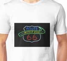 Route 66 Mother Road Neon Sign Unisex T-Shirt