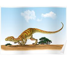 Eoraptor, an early dinosaur that lived during the late Triassic Period. Poster