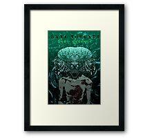 Demonic Alien Entity Framed Print