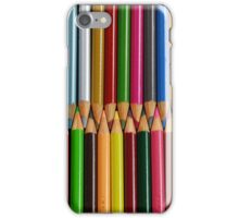 Colorful pencil crayons iPhone Case/Skin