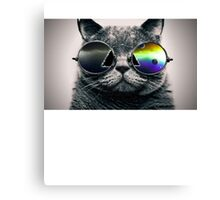 Dark Side of the Meow Canvas Print