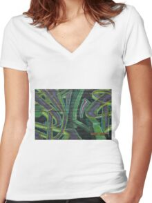 Terrace Street Wall Art Women's Fitted V-Neck T-Shirt