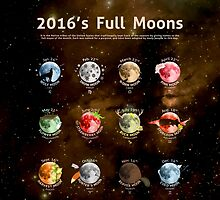 2016's Full Moons by Cammerel Dixon