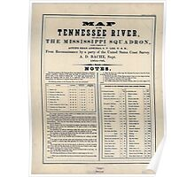 Civil War Maps 0993 Map of the Tennessee River for the use of the Mississippi Squadron Poster