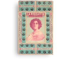 La Rigoletta : Vintage Snaps Card Canvas Print