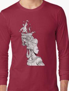 Girl With Ship Long Sleeve T-Shirt
