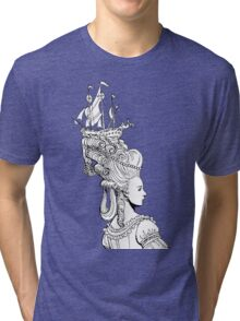 Girl With Ship Tri-blend T-Shirt
