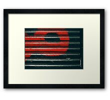 Black & Red Framed Print