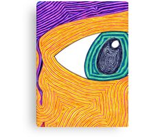 Psychedelic Eye Canvas Print