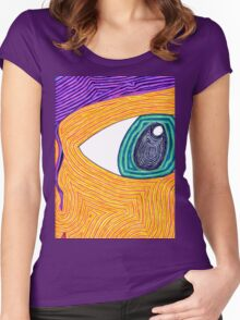 Psychedelic Eye Women's Fitted Scoop T-Shirt
