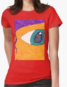 Psychedelic Eye Womens Fitted T-Shirt