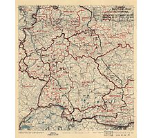June 24 1945 World War II HQ Twelfth Army Group situation map Photographic Print