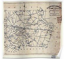 Civil War Maps 0366 Fairfield Districtt South Carolina Poster